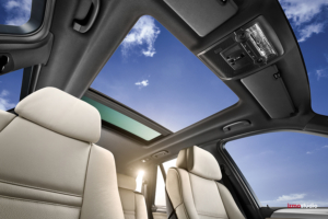 Automotive photography of BMW X5 Sunroof