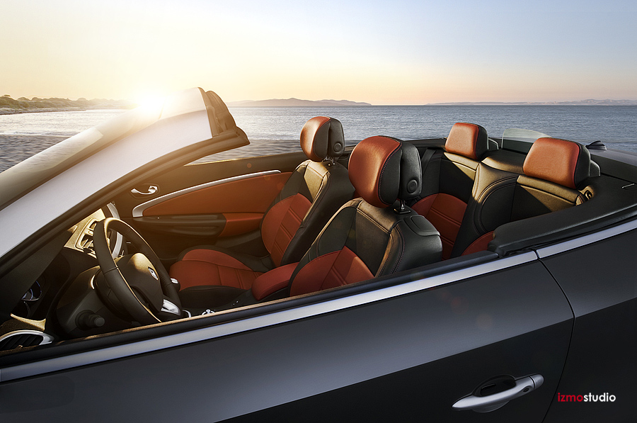 Location Advertising Photography of a Renault Megan Convertible