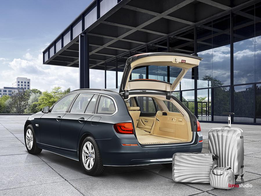 Automotive Photography Of BMW 5 Series Wagon Location Car