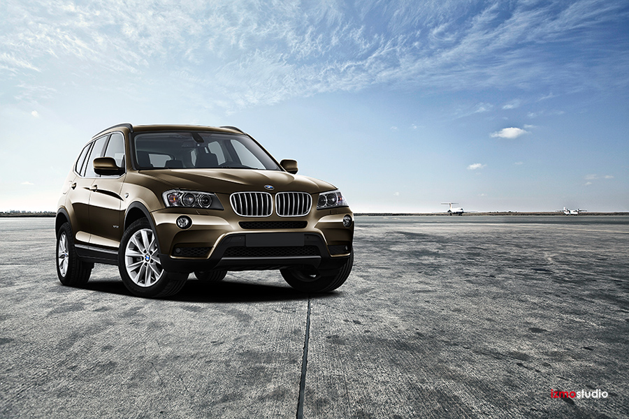 BMW X5 SUV sunroof advertising photography