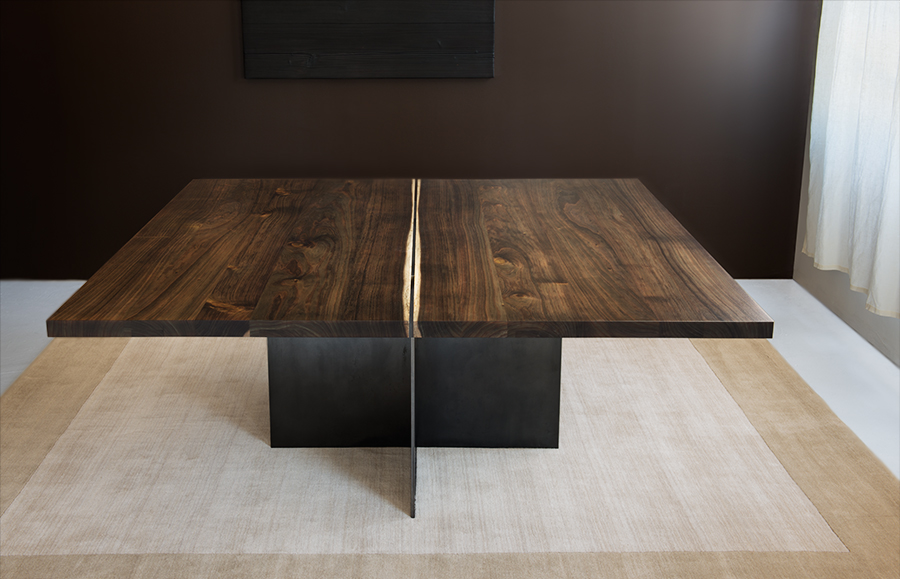 Commercial product photography wood table