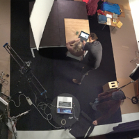 photo from behind the scene in advertising video production