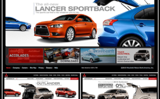 Automotive photography of Mitsubishi Lancer