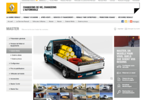 Commercial Studio Photo of Renault Trucks