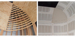 studio cyclorama wood radius corner