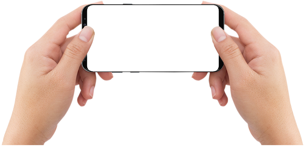 hands holding mobile media device