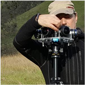virtual reality producer photo on location