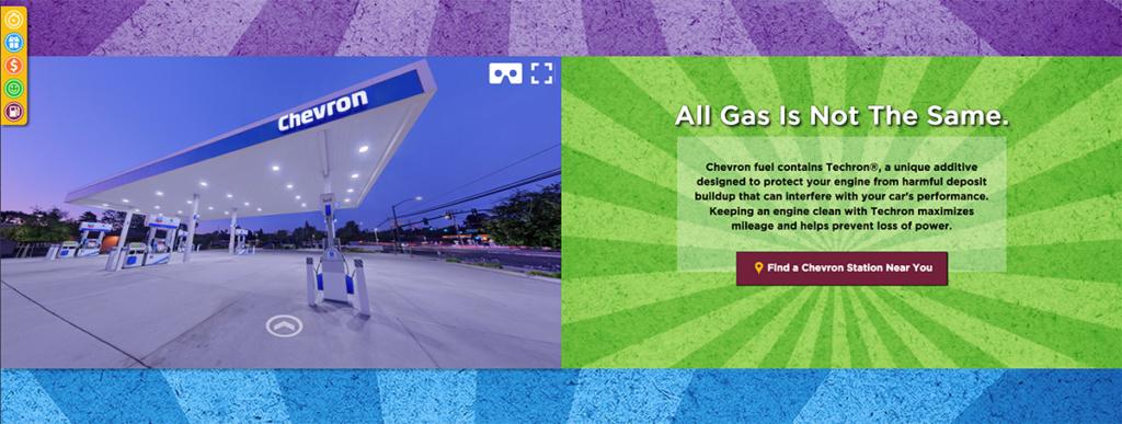 360 virtual tour of chevron gas station